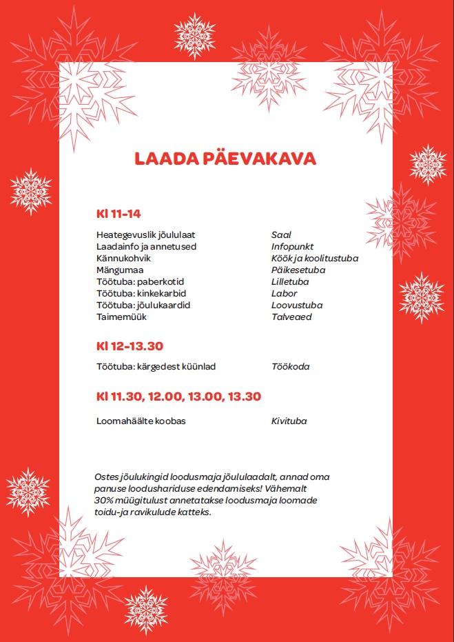 Tartu loodusmaja jõululaat 2018