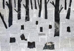 """Koolinoorte metsateemaline kunstinäitus""""Kas ma pean metsa joonistama, et meie järeltulijad näeksid metsa?"""""""