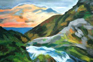 """Tiiu Hanseni akrüülmaalide näitus """"Maalid mägedest"""""""