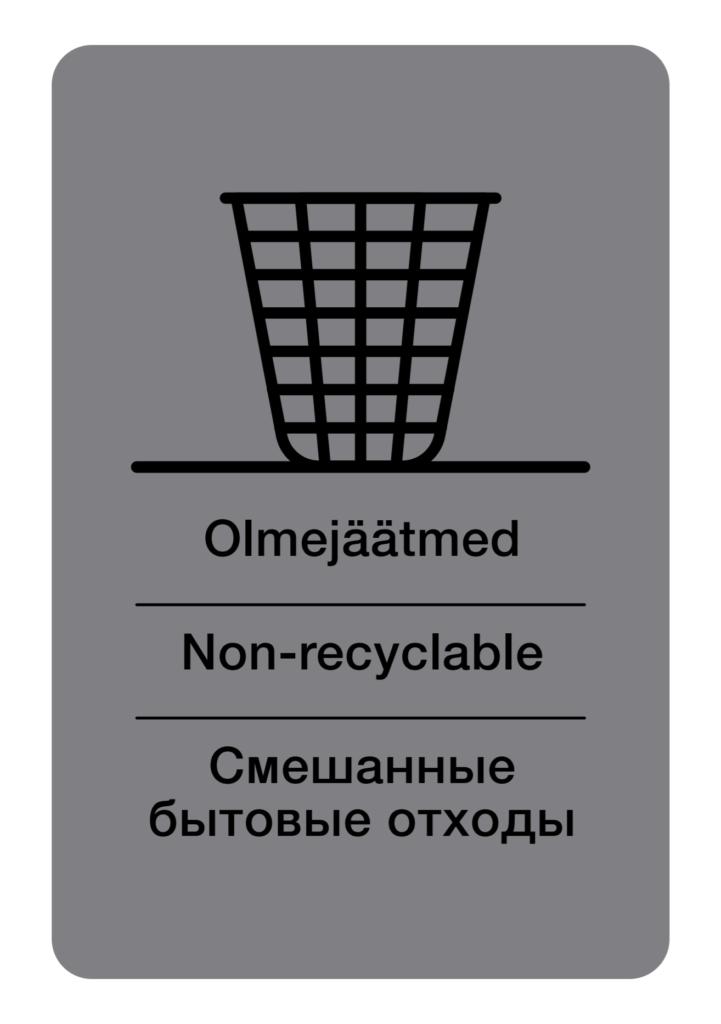 Jäätmete liigiti kogumise sildid Tartu loodusmaja