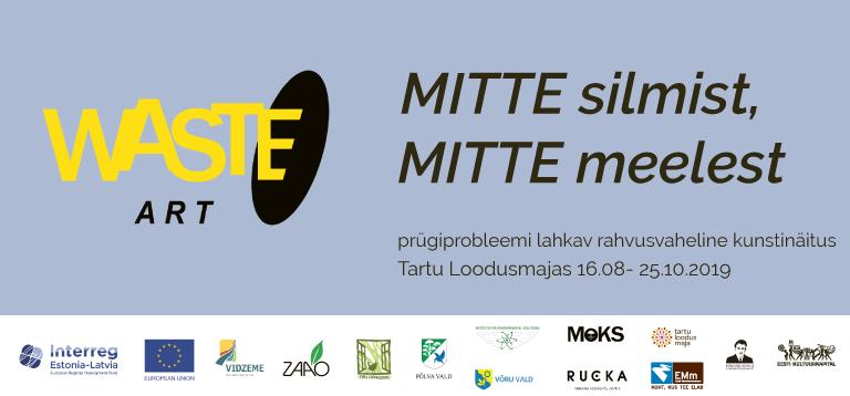 Waste Art exhibition at Tartu Nature House