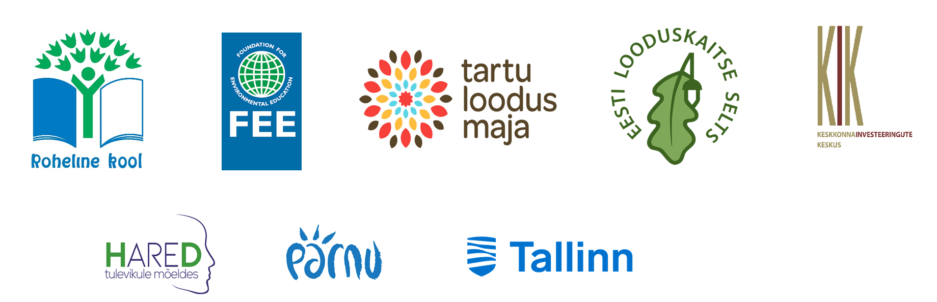 Rohelise kooli logod koos - Tartu loodusmaja