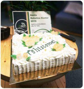 Tartu loodusmaja rohelise kontori tiitel 2019
