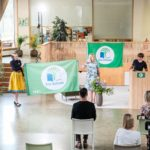 President Kaljulaid the patron of Eco-Schools movement in Estonia distributed Green Flags