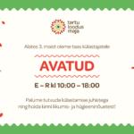 Tartu loodusmaja külastuskeskus on alates 3.maist taas avatud