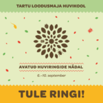 Avatud huviringide nädal 6.-10.09.2021 Tartu loodusmaja huvikoolis